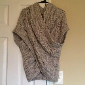 Anthropologie Sleeping On Snow Gray Sweater